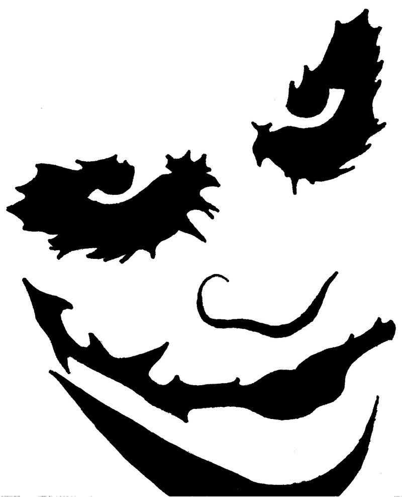 6 Images of Printable Pumpkin Carving Stencils Joker