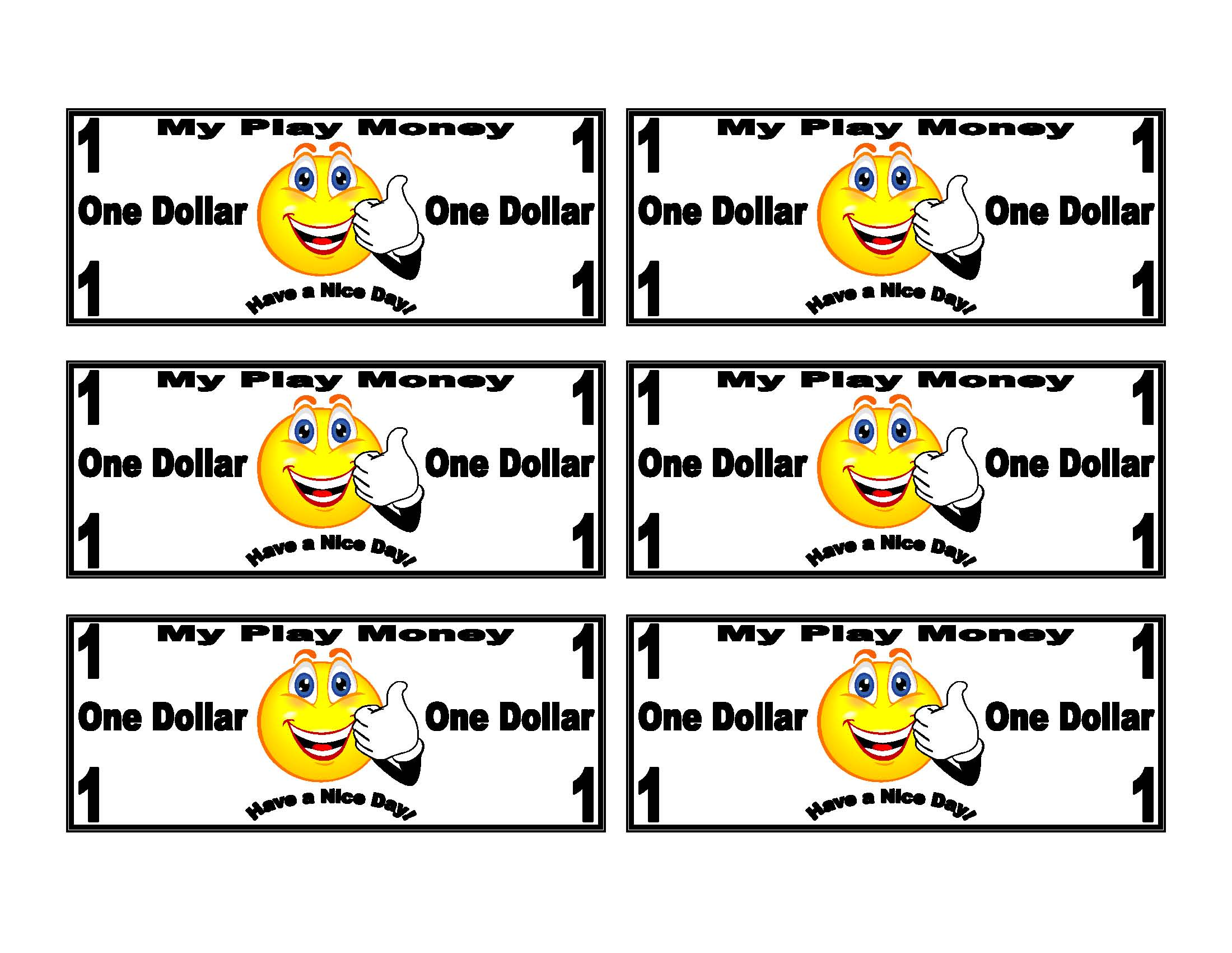 Toy Money To Print Out : Best images of printable funny money