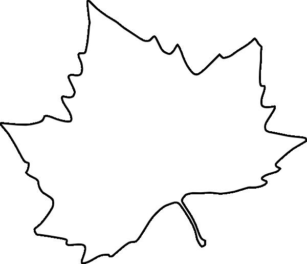 Leaves Outline Clip Art
