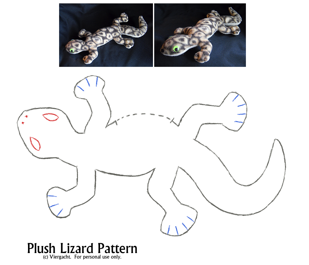 5 Images of Lizard Template Printable