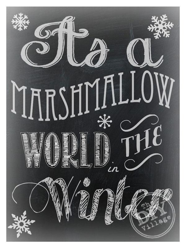 Marshmallow World Chalkboard Printable