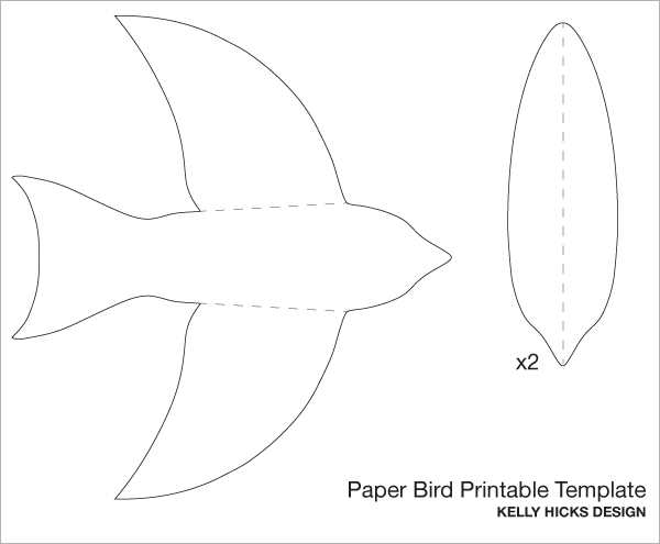 5 best images of birds flying cutouts printable paper for Bird templates to cut out