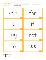 6 Images of Pre-K Sight Words Printables