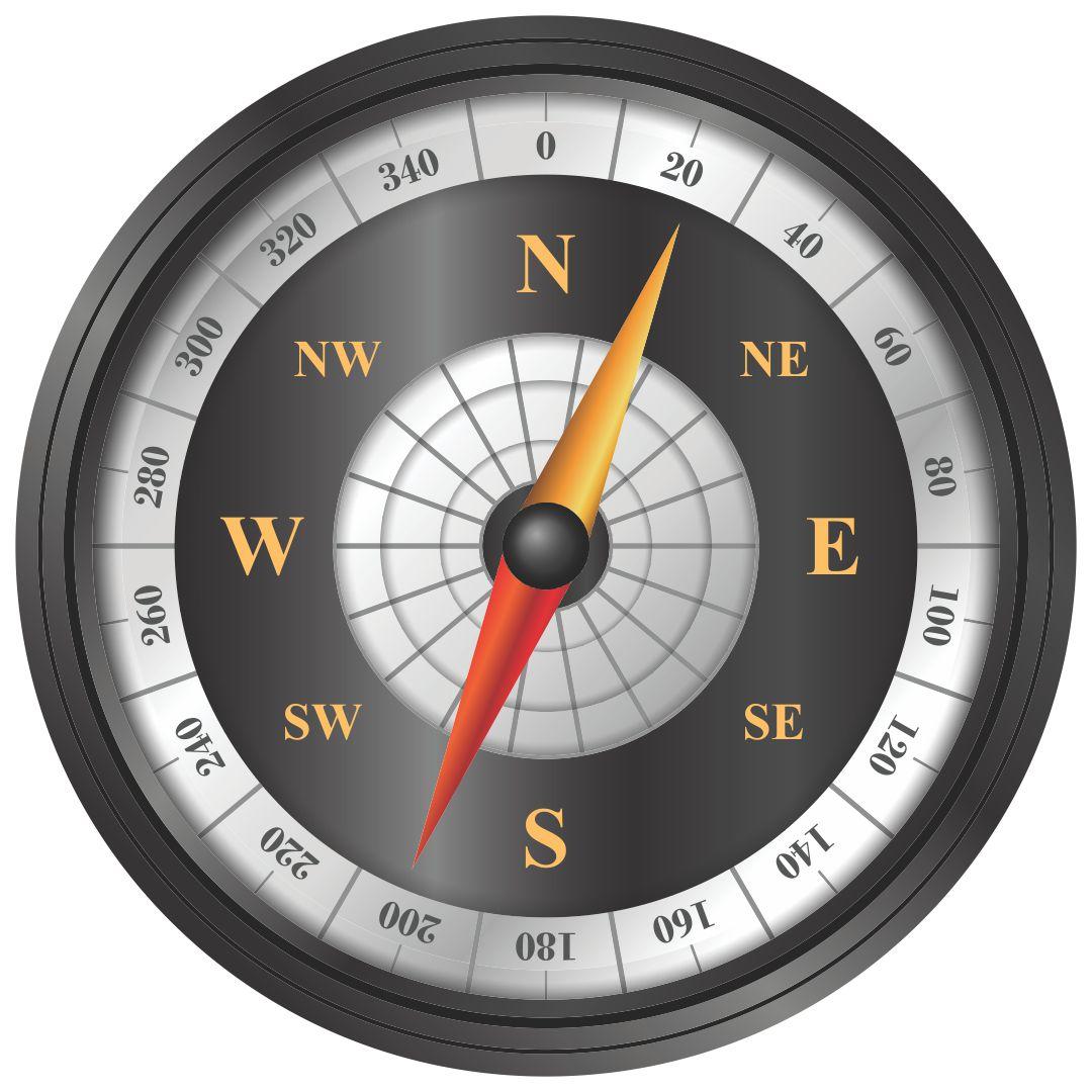 Printable 360 Degree Compass