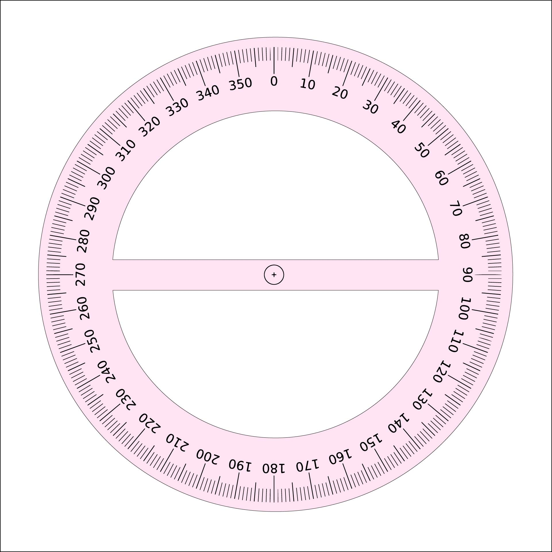 It's just an image of Playful Printable Degree Wheel
