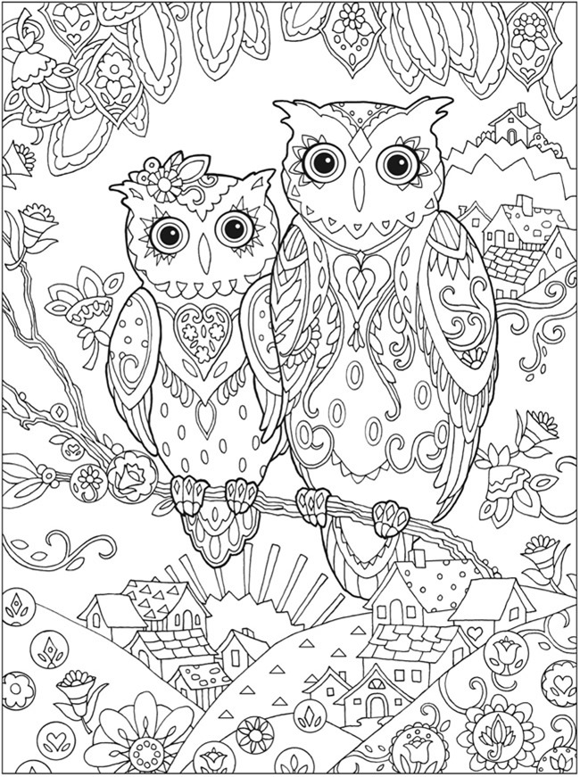 6 Images of Printable Adult Coloring Pages Owls