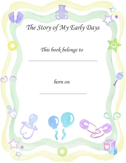 Printable Baby Book Scrapbook Pages for Free