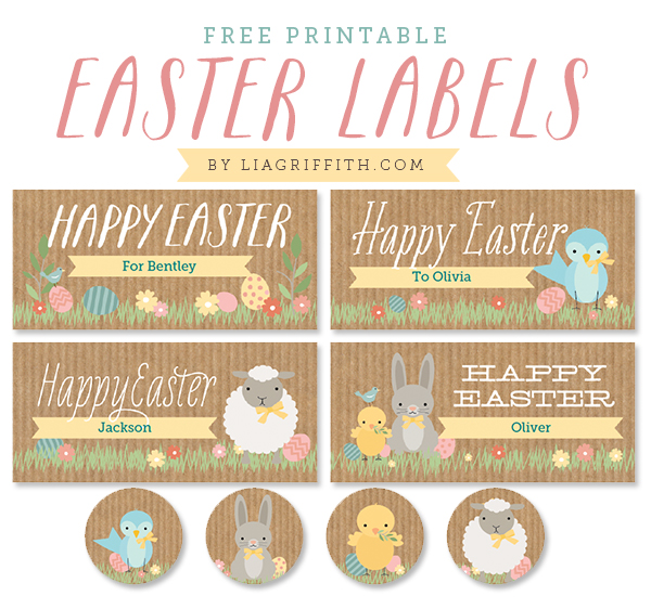 9 Images of Free Printable Easter Label Templates