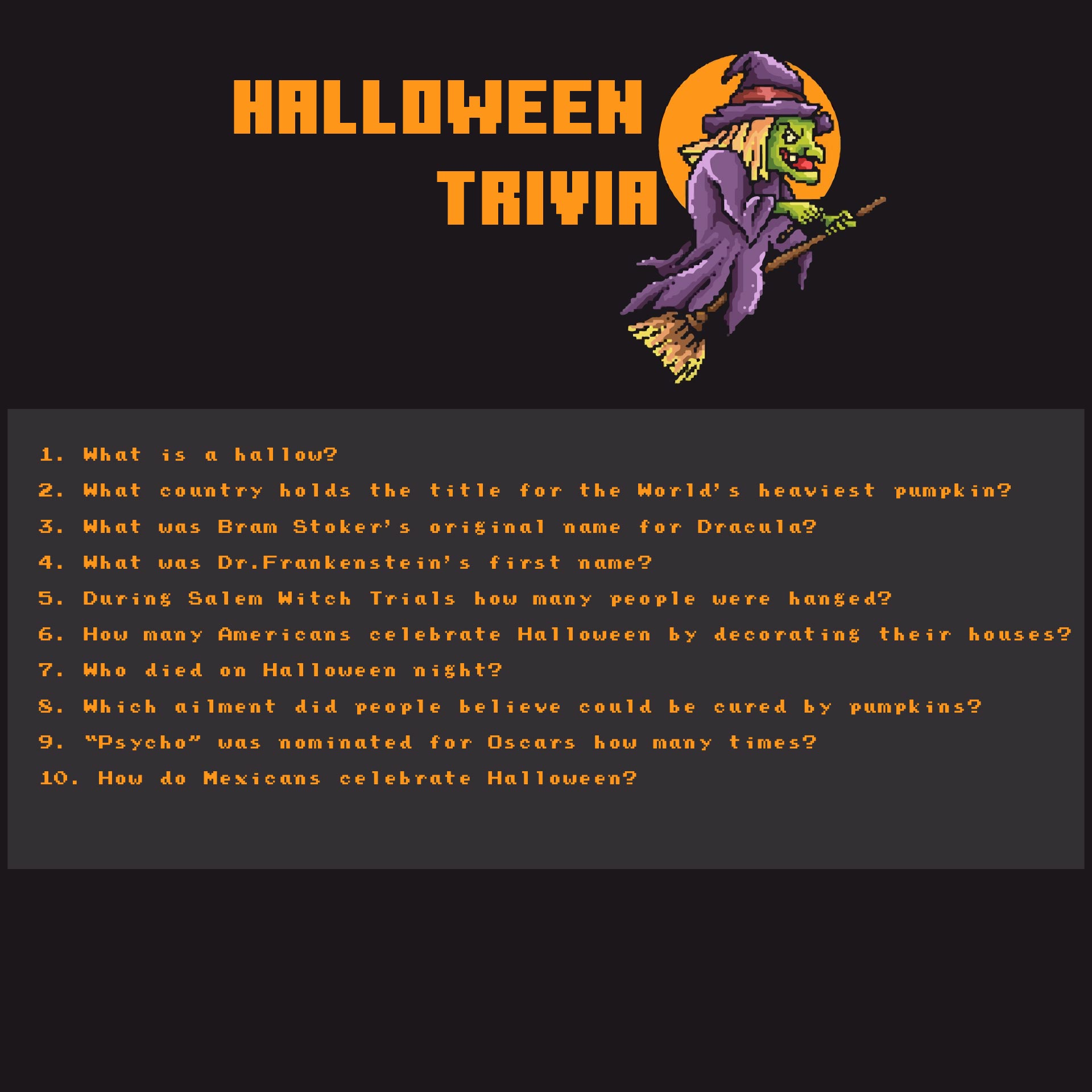 Halloween Trivia Questions Halloween Trivia Quiz Halloween Trivia Quiz 7 Best Images of Free Printable Halloween
