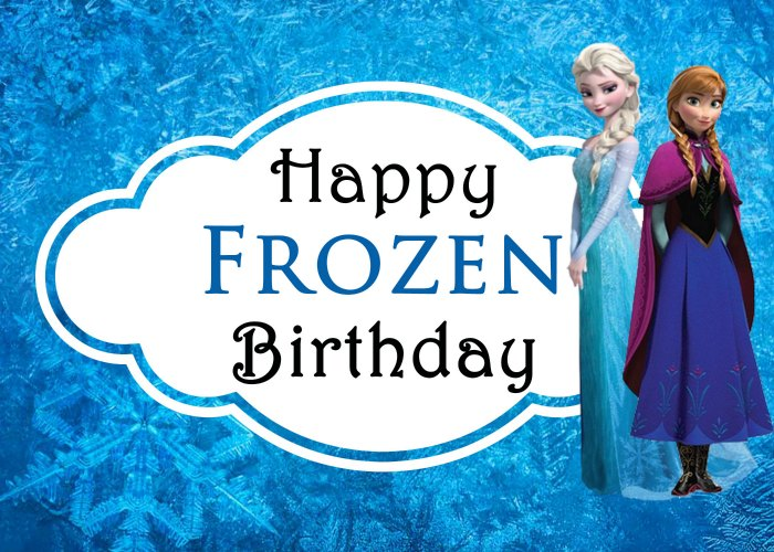 Printable Happy Birthday Cards Frozen Elsa