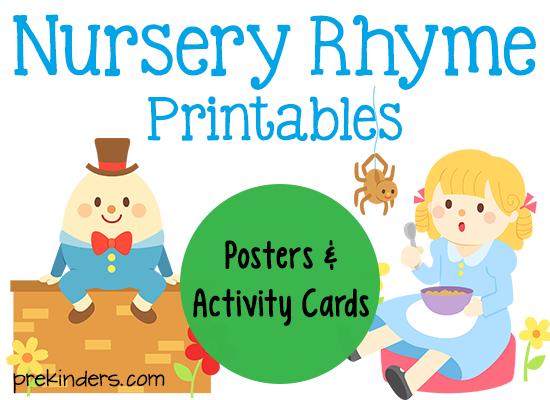 7 Images of Nursery Rhyme Printables
