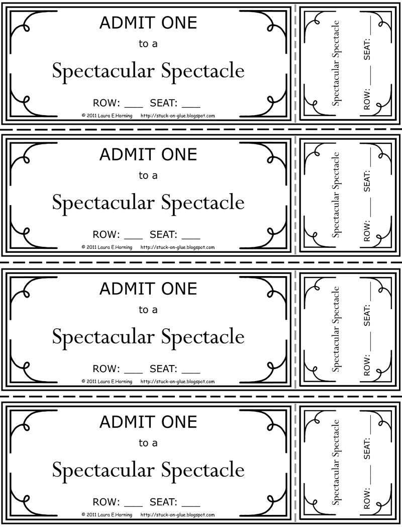 Tickets Printable action plan templete – Free Printable Movie Ticket Template