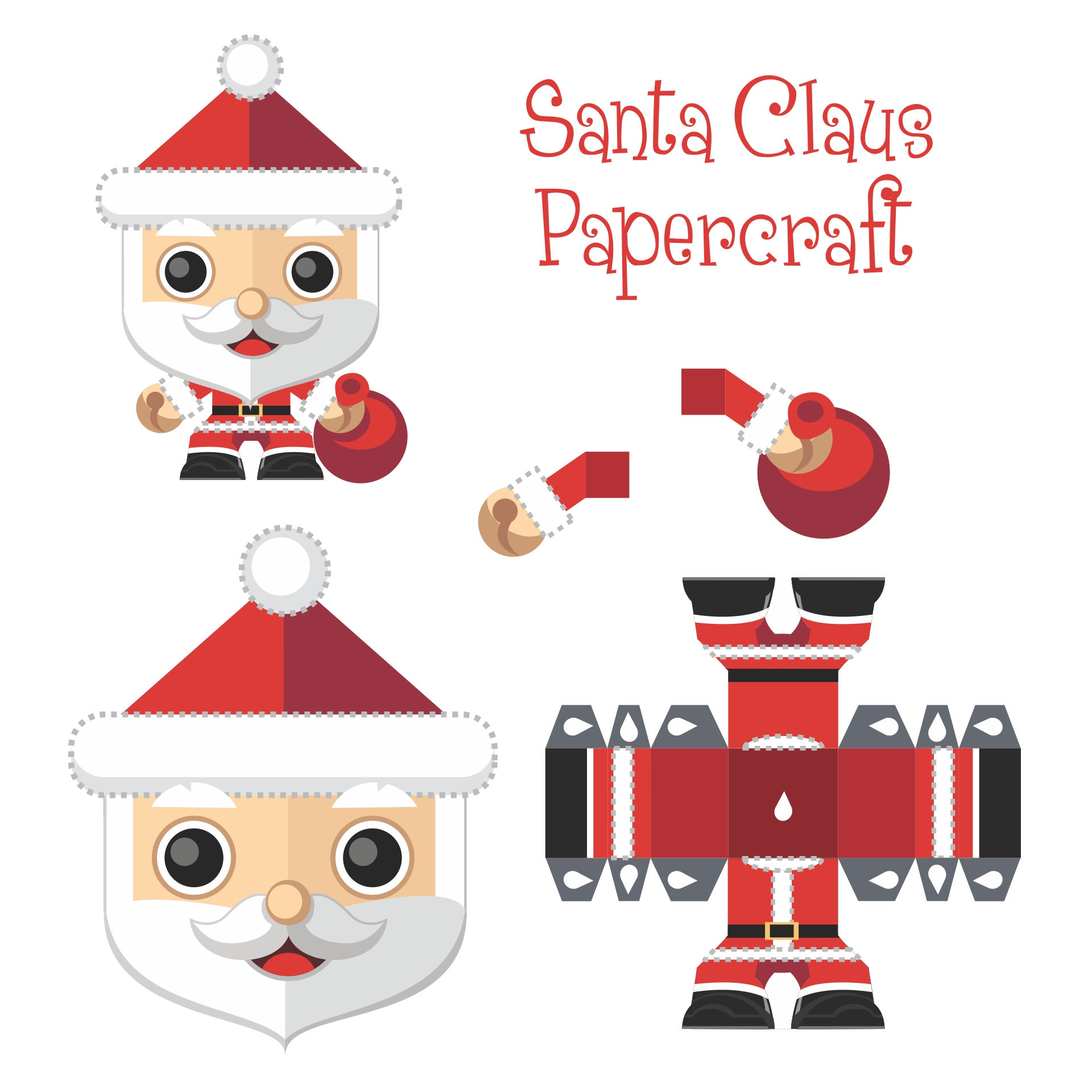 7 Images of Free Printable Christmas Paper Crafts