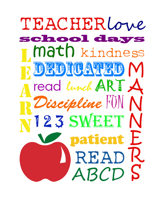 7 Images of Teacher Subway Art Printable
