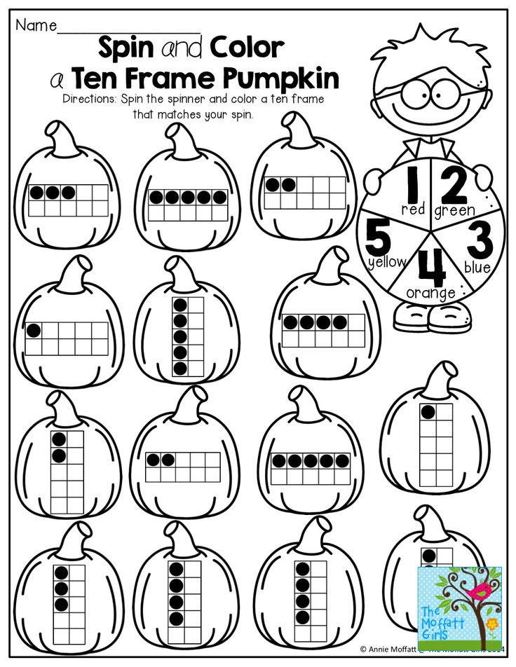 5 best images of pumpkin ten frames printables first for 10 frame template printable