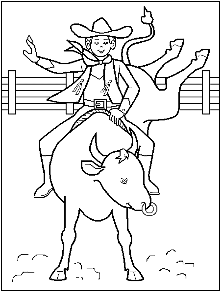 5 Images of Free Printable Cowboy Pictures