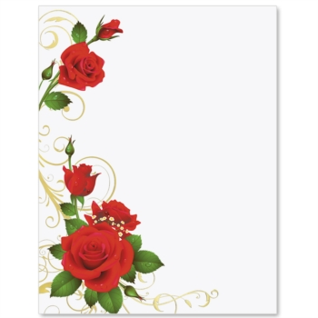 4 Images of Free Printable Paper Borders Roses