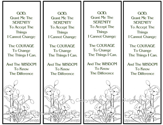 5 Images of Serenity Prayer Printable