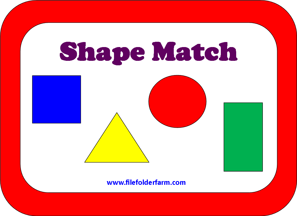 6 Images of Shapes Matching Game Printable