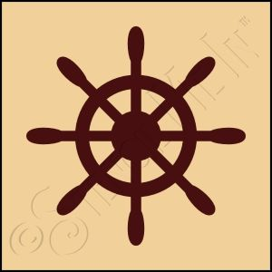 7 Images of Nautical Wheel Stencils Free Printable