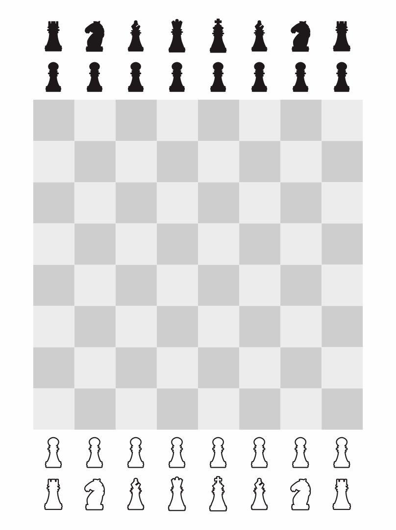 Small Printable Chess Board