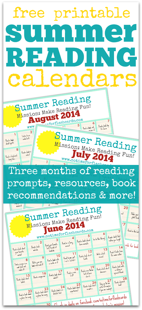 6 Images of Summer Reading Calendar Printable