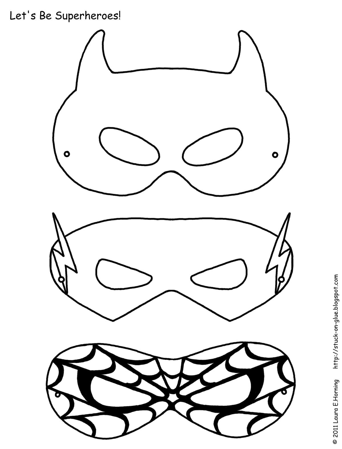 8 Images of Free Superhero Mask Template Printable