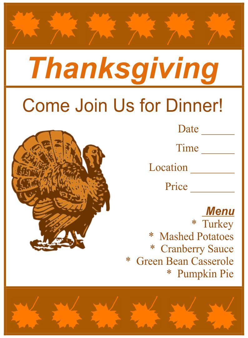 8 Images of Free Printable Thanksgiving Templates