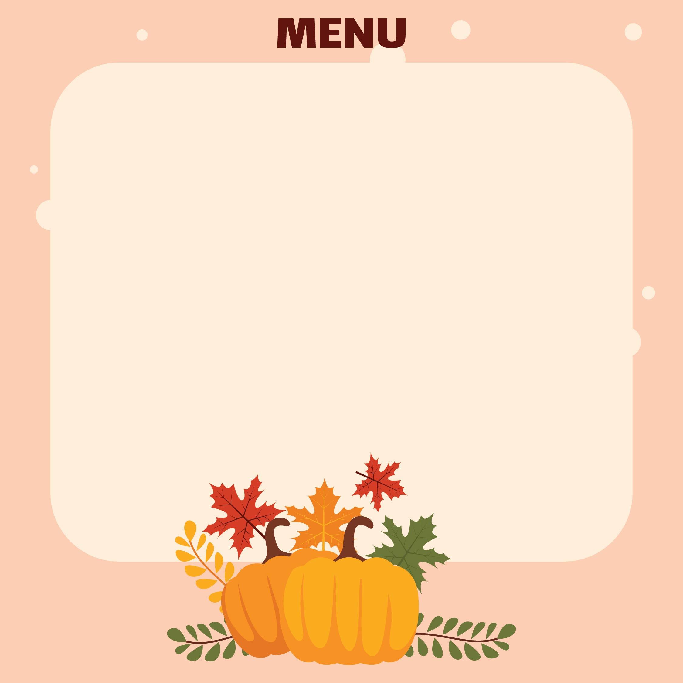 Thanksgiving Menu Template for Microsoft Word