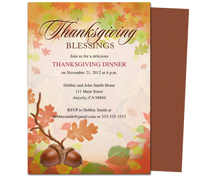 8 best images of free printable thanksgiving templates thanksgiving dinner invitation for Free thanksgiving invitations