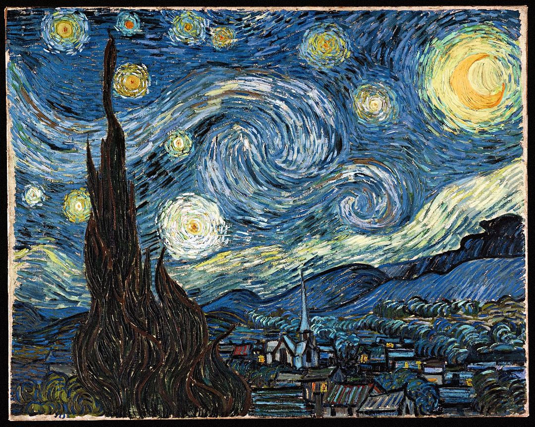 6 Images of Van Gogh Starry Night Printable