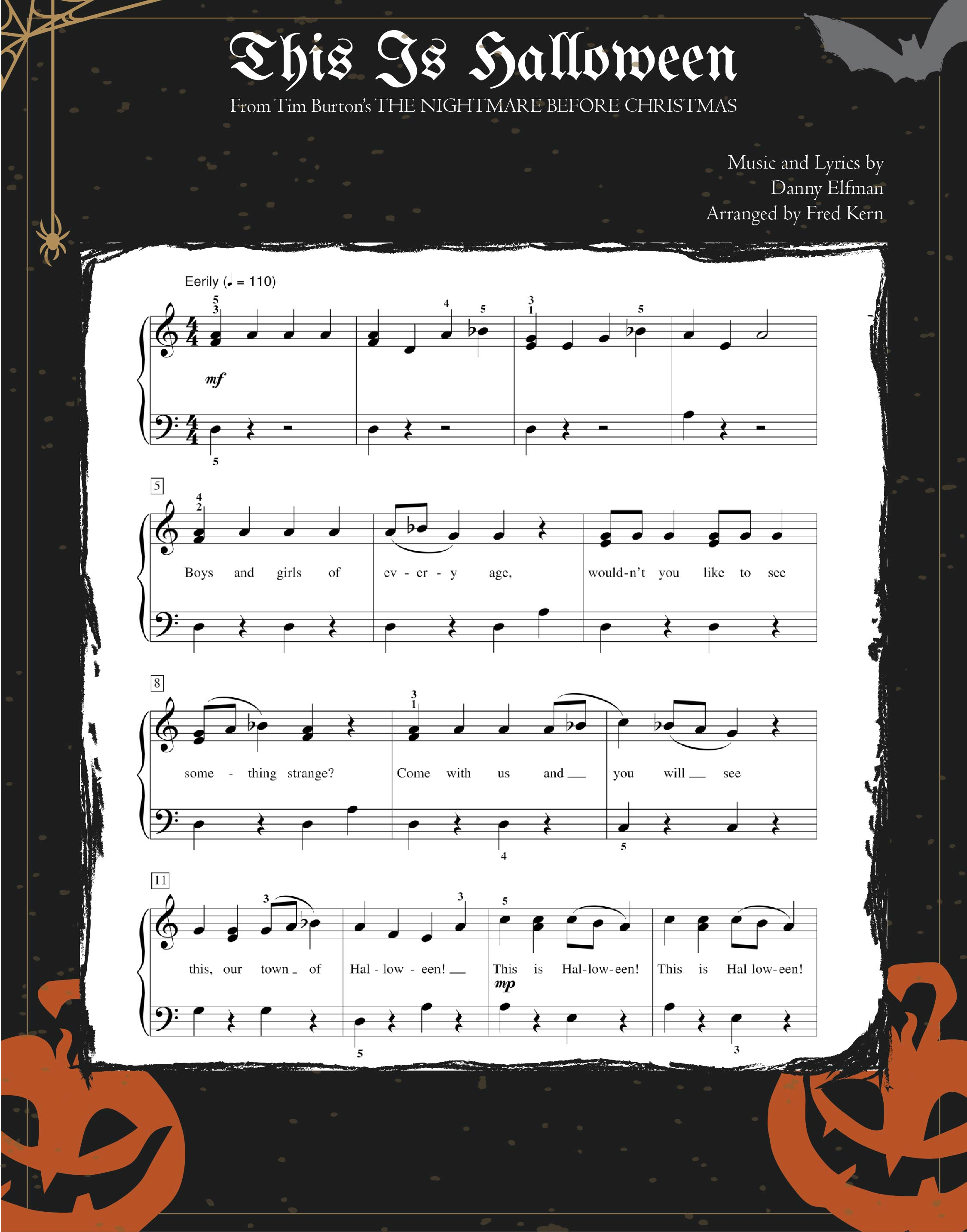 Vintage Halloween Sheet Music