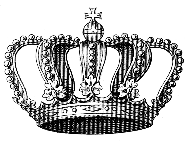 Vintage King Crown Clip Art