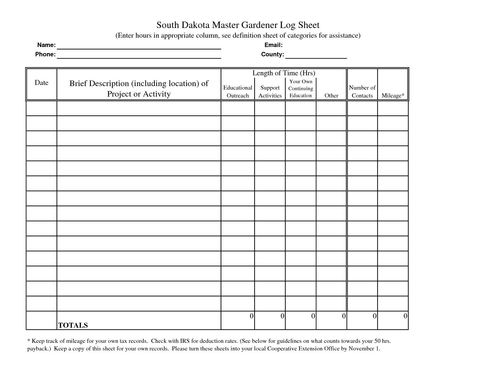 Student Volunteer Hour Log Sheet Pictures to pin on Pinterest