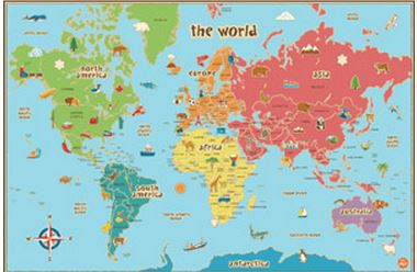 7 Images of World Map Printable For Teachers