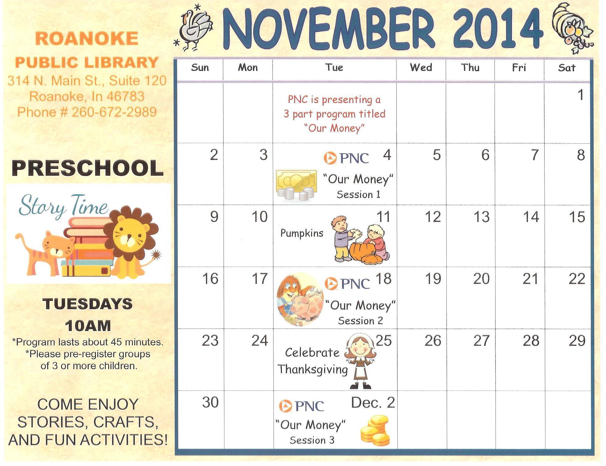 Kindergarten Calendar Art : Best images of preschool calendar printable november