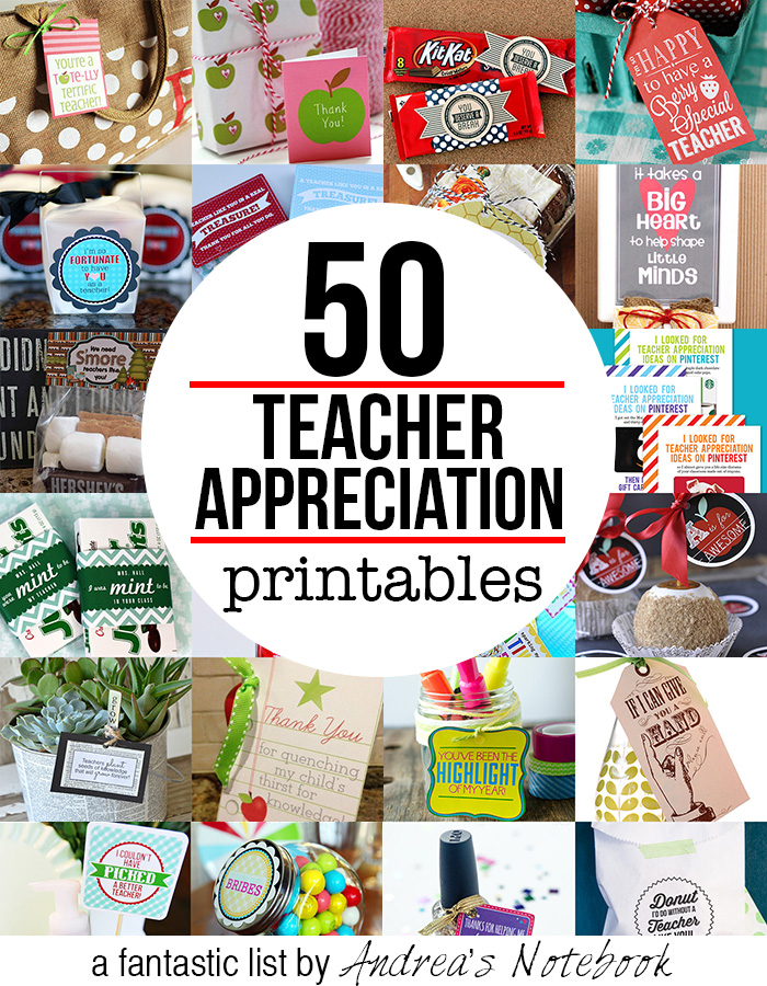 9 Images of Teacher Gift Printables