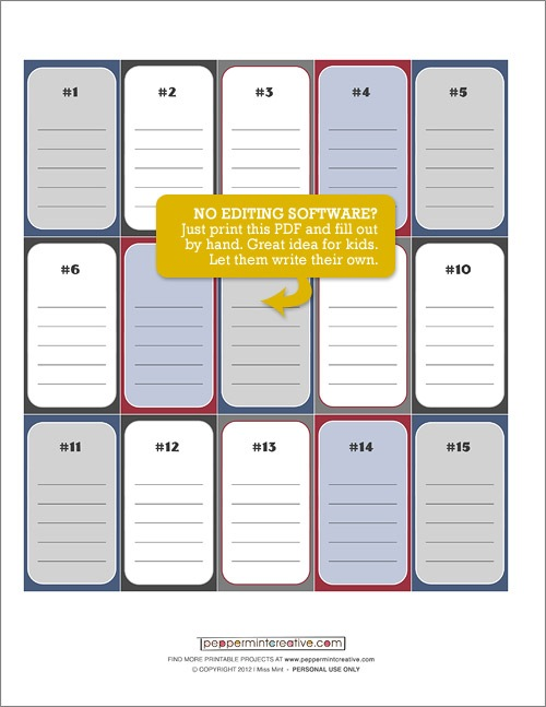 6 best images of deck of cards template printable for 52 reasons why i love you cards templates free