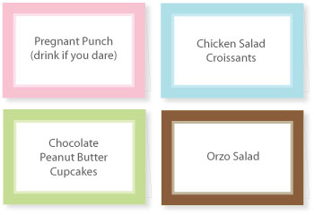 5 Images of Free Printable Food Tent Labels