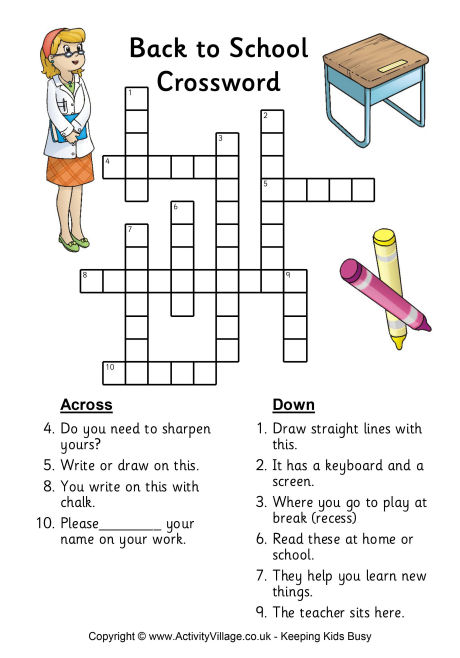 4 Images of Back To School Puzzles Printable