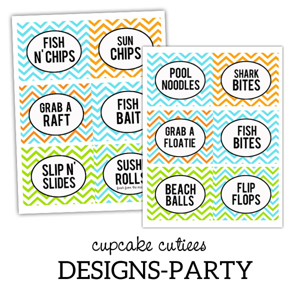 Beach Party Food Label Ideas