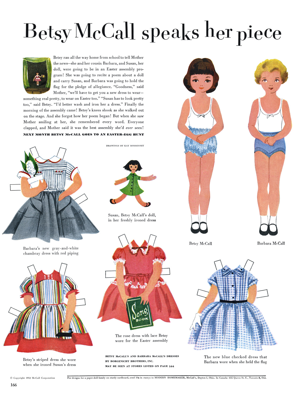 8 Images of Betsy McCall Paper Dolls Printables