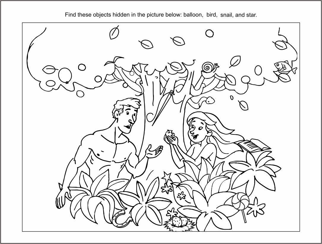 5 Images of Bible Printables Hidden Objects Puzzle