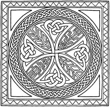 5 Images of Free Printable Celtic Cross Coloring Pages