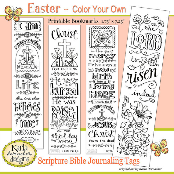 Color Your Own Printable Bible Bookmarks
