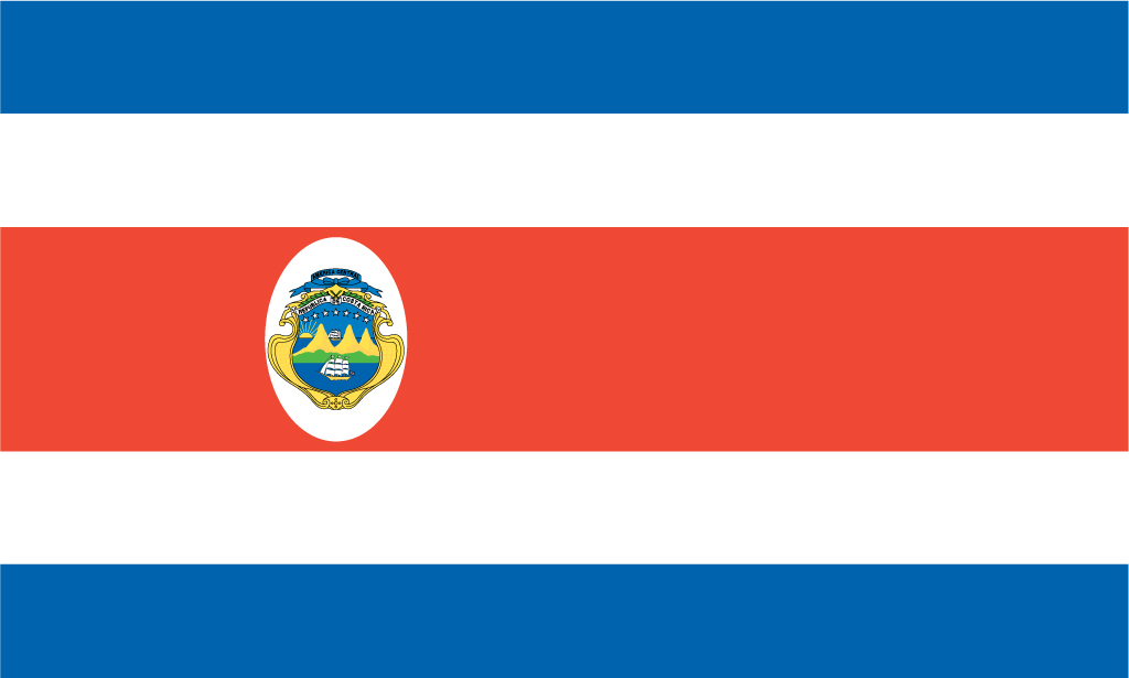 4 Images of Costa Rica Flag Printable