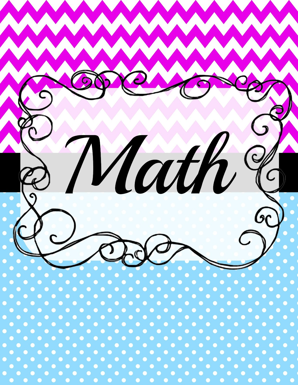 5 Images of Free Printable Math Notebook Cover