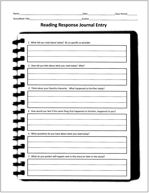 7 Images of Printable Reading Journals