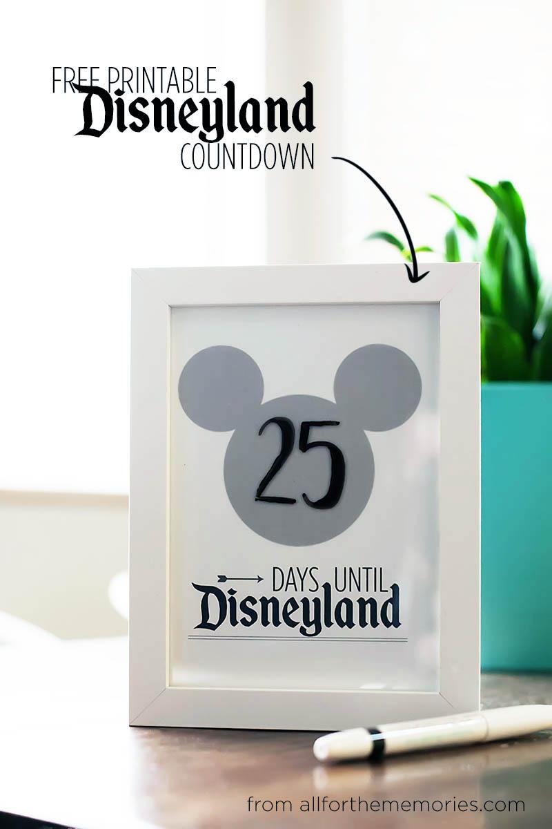 5 Images of Free Printable Disneyland Countdown