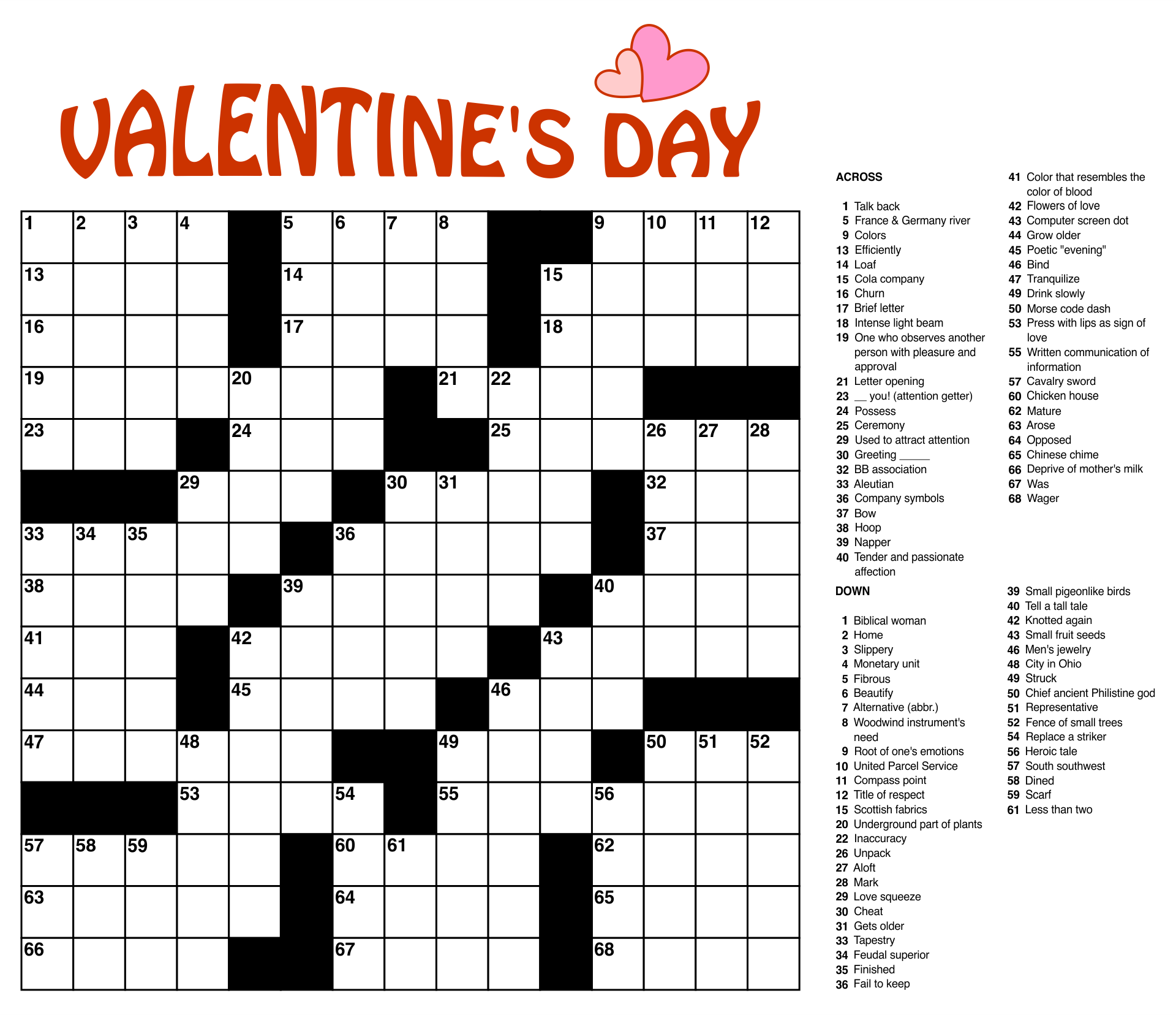 Extra Large Print Crossword Puzzles